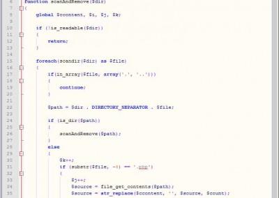 清除 PHP 恶意代码 终于搞定